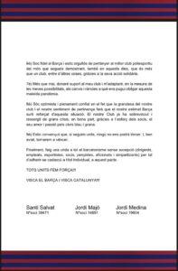 Pacte per a la unió del barcelonisme enfront de la COVID-19