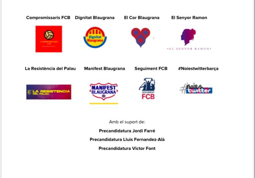 Grupos participantes en la Moción de Censura 2020