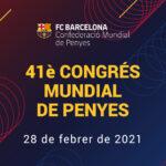 Cartell del 41è Congrés Mundial de Penyes, que inclou un debat electoral sobre l'àrea social del qual som col·laboradors